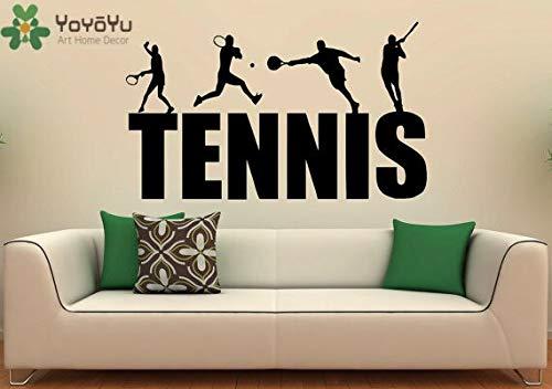 JXFM DIY Customized Wandtattoo Tennisschläger Sport Bild Kunst Vinyl Tapete Aufkleber Abnehmbare Dekoration