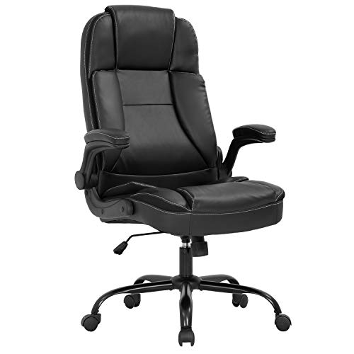 Office Chair Ergonomic Desk Chair PU Leather Computer Chair...