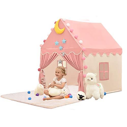 Tienda de niños De Interior Casa De Juguete De Ensueño Súper Grande para Niña Princesa Rosa Castillo para Niñas Casa De Juegos para El Hogar Apto para Todas Las Edades