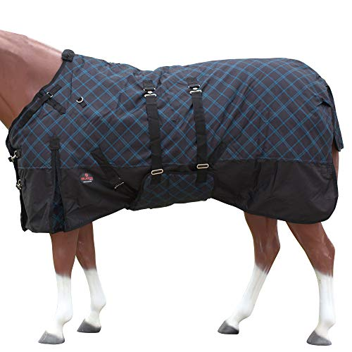 "HILASON 69"" 1200D Winter Waterproof Horse Blanket Belly Wrap Plaid"