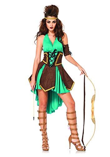 Leg Avenue Women's 3 Piece Celtic Warrior Costume, Turquoise, Medium/Large