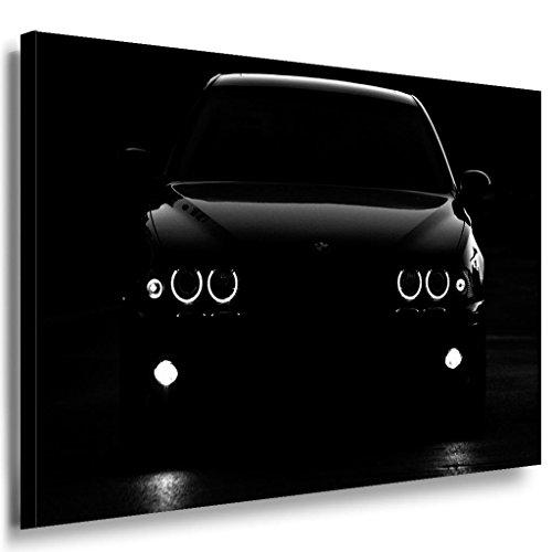 BMW Nacht Leinwandbild / LaraArt Bilder / Leinwand Bild + Mehrfarbig + Kunstdruck XXL a19-4 Wandbild 80 x 60 cm