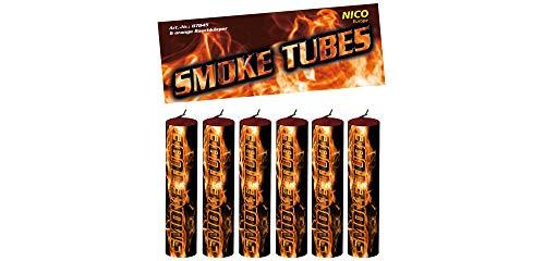 nico 6X Smoke Tube Rauchfackeln Rauchbomben Rauchgenerator Raucherzeuger Rauchtopf (orange)