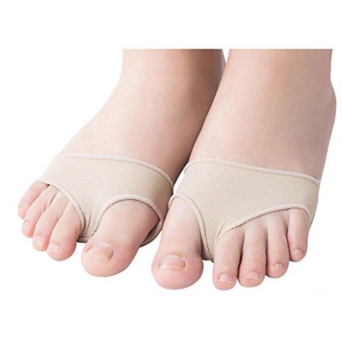 VANKER 1 Paire Silicone Souple + Tissu Pied Avant Pad Coussin de Massage Orteil Séparateurs