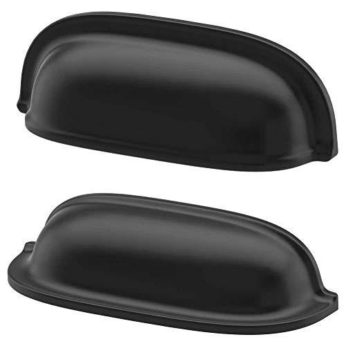 IKEA ENERYDA Muldengriffe in schwarz; Möbelgriffe; (89mm); 2 Stück