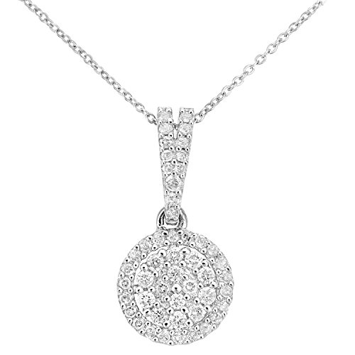 Naava Damen-Halskette 9 K 375 Weißgold rundschliff weiß Diamant