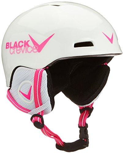 Black Crevice Kinder Skihelm Stubai, weiß/pink, 48-52 cm