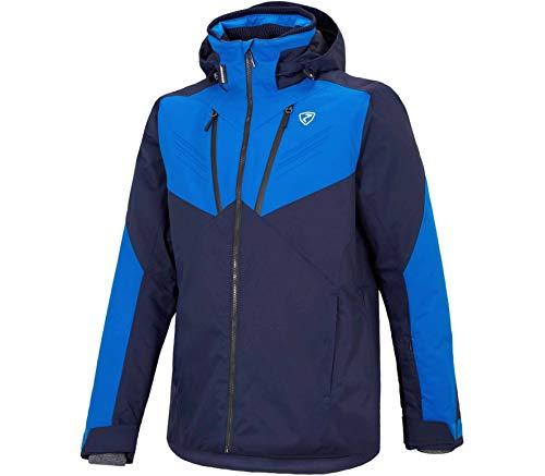 Ziener M Tioga Colorblock-Blau, Herren Dermizax™ Regenjacke, Größe 54 - Farbe Dark Blue -True Blue