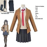 2021最新型 コスチューム桜島マイコスプレウィッグシキゥーバトヤーヨウシリーズ女性学校制服ハロウィーン高校女子パーティースーツ (色 : Costume, サイズ : L)
