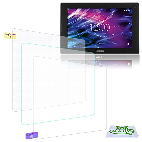 NAUC Bildschirm-Schutz-Folie Medion Lifetab S10351 S10352 Schutzfolie 3X klar Universal