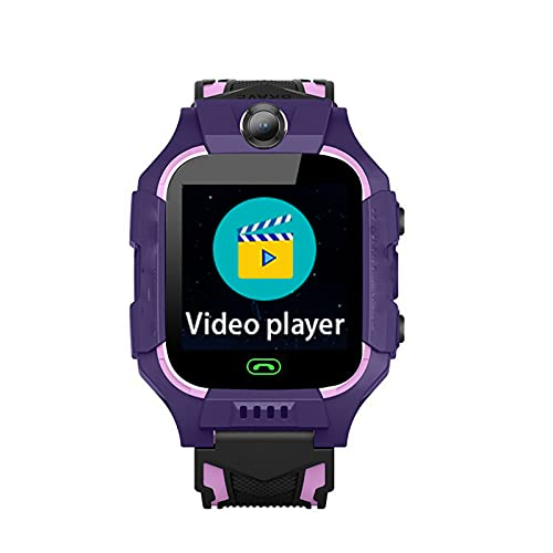HLONGG Smart Watch Children Watch Mobile Game Watch 2G / 3G / 4G Kids Watch Teléfono WiFi/GPS/LBS Posicionamiento SOS Admisión Cumpleaños Celebración de la graduación para Chicos,Púrpura