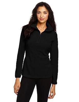 Columbia Women Arctic Air Fleece 1/2 Zip Pullover Sweatshirt (S, Black)