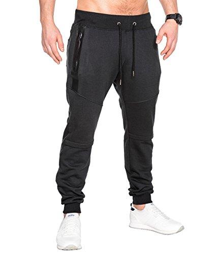 BetterStylz SlvrCatBZ Jogginghose Trainingshose Sportswear Tech Fleece Jogger Hose Sweatpant 3 Farben (S-XXL) (XXXXX-Large, Schwarz)