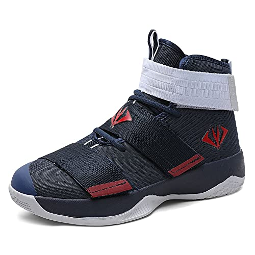 MAUGELY Men's Women's Velcro Breathable Basketball Shoes Students Sports Causal Outdoor Non-Slip...