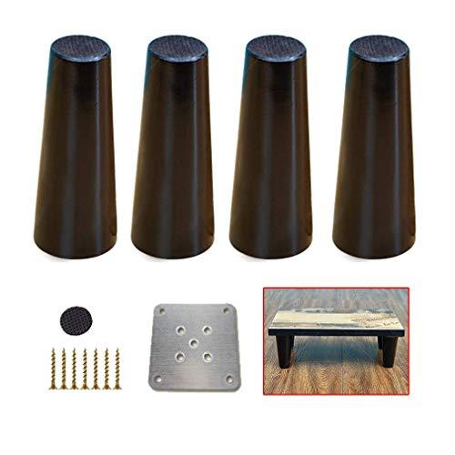 ZTMN massief hout meubelpoten, zwarte bank benen, tafelpoten ondersteuning voeten, voor koffie tafel buffetten bed dressoir dressoir, 11 maten (15.7inch/40cm,4pcs)