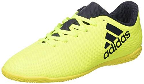 adidas X 17.4 In J, Zapatillas de fútbol Sala Unisex niños, Amarillo (Amasol/Tinley/Tinley), 37 1/3 EU
