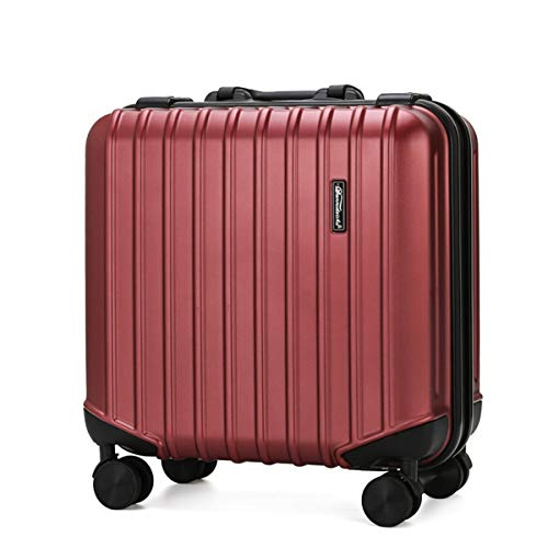 Box ABS + PC Fashion Travel - Maleta de viaje estilo europeo y americano con contraseña, caja de 18 pulgadas, Rojo (Rojo) - ngsen