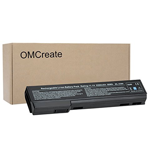 OMCreate 628668-001 628666-001 Battery Compatible with HP EliteBook 8460P 8470P 8560P 8570P; HP ProBook 6470B 6570B 6460B 6560B 6360B,fits P/N CC06 CC06XL QK642AA