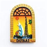 Sailing Hotel Dubai Fridge Magnets Funny 3D Resin Magnet for Refrigerator Travel Souvenir Gifts Home Kitchen Decoration Magnets Sticker Crafts