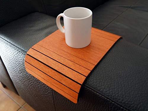 Kleiner sofa armlehnentisch wohnzimmer holz anpassbares kirschbaum Mini flexibler sofatisch modern Couch tisch lehne klein Armlehnentablett Couchtisch ablage Kanapee tablett armlehne
