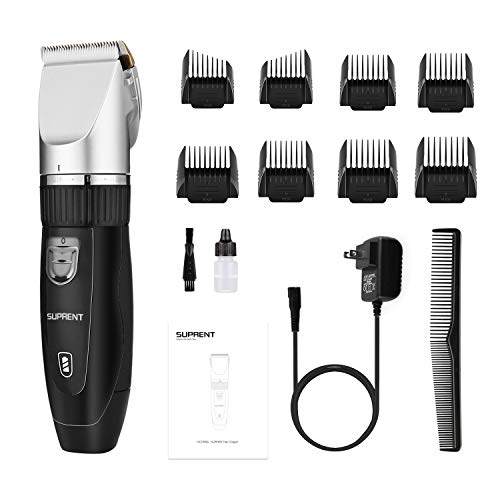 Hair Clippers for Men SUPRENT Cordless Professional Hair Clippers Rechargeable Hair Trimmer for Man,...