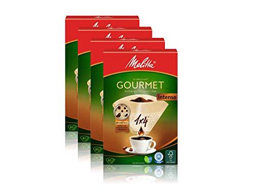 Melitta Filtertüten 1x4/80 Gourmet intense naturbraun Aroma, 4er Pack (4 x 1 Stück)