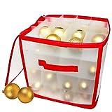THE TWIDDLERS Caja de Almacenamiento de Bolas de Navidad (para 64 Bolas) - Confiable y Resistente| Bolsa de Almacenamiento de Adornos y Decoraciones para Árboles de Navidad.