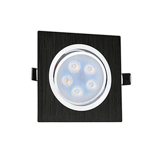WRMOP Led-hal, uniek, lampenkop, spot, dimbaar, plafondlamp, inbouwlamp, in twee kleuren, zwart, vierkant, voor kantoor thuis, studio, verlichting business, R/19/12/27