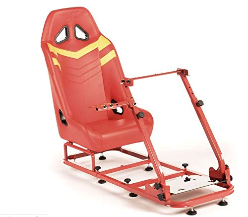 Monza GT Performance Game Seat voor pc en game consoles in rood & grijs hard dragen kunstleer
