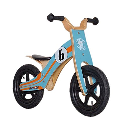 Rebel Kidz Wood Air Draisienne 12' Enfant, Le Mans/Blue/Orange