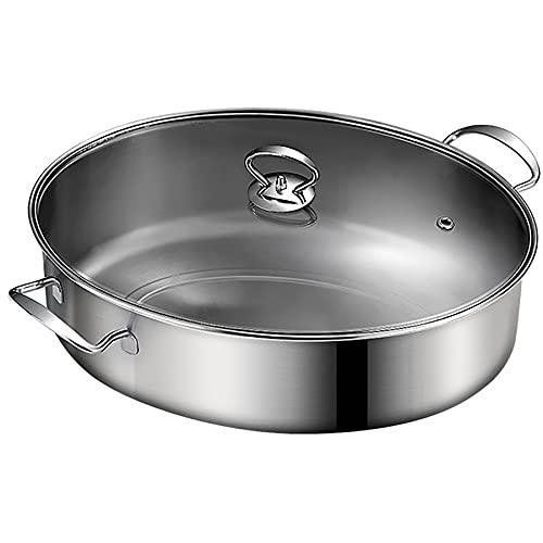 Pequeño de vapor/olla de sopa 410 Acero inoxidable Vapor de vapor Artifact Oval Hogar Oval Extra Large Steamer 39cm