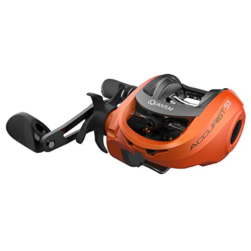 Quantum Accurist S3 PT Baitcast Fishing Reel, 8+1 Bearings, 7.0:1 Gear Ratio, Right Hand, Orange