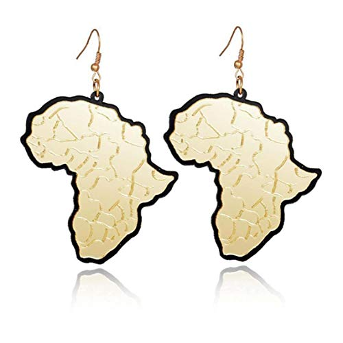 Casecover 1 Pair Men Women African Style Jewelry of Africa Pendant Necklace Earrings Valentine's Day