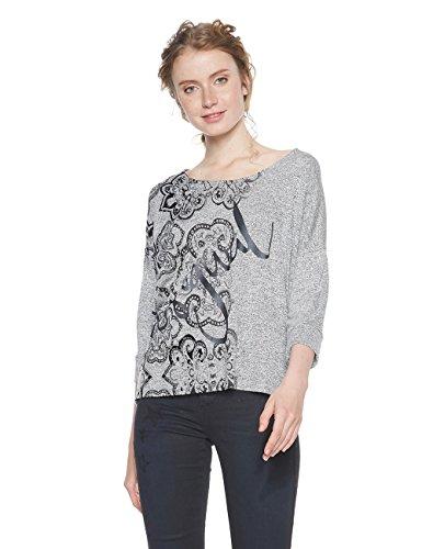 Desigual Nisa TS Camiseta, Gris (Vigore Claro 2042), L para Mujer en oferta