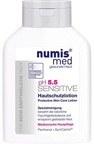 numis med Hautschutzlotion ph 5.5 SENSITIVE - Körperlotion vegan - Lotion für sensible, feuchtigkeitsarme & zu Allergien neigende Haut - Bodylotion (1x 200 ml)