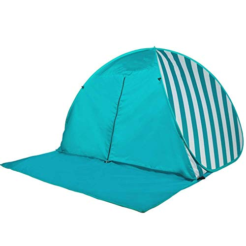 Nueva carpa 3-4 personas Protección para el hogar Parasol grande Protección solar portátil Cobertizo Carpa cuesta abajo automática Bolsa de transporte con cremallera para pesca con mochila (Color: tir