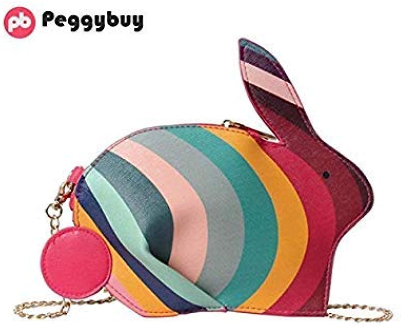 Bloomerang Creative Shoulder Bags colorful Rabbit Shape Shoulder Bags Women PU Leather Handbags Chain Waterproof Crossbody Messenger Clutch color 01