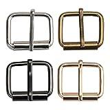 TsunNee 60 hebillas de rodillo de metal, cinturones, hebillas de perno para bolsos, correa de piel, accesorios de bricolaje 20x25mm Multicolor