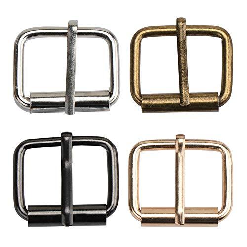 TsunNee 60 hebillas de metal para rodillos, hebillas de hardware para bolsos, correa de cuero y accesorios de mano, multicolor, 20 x 25 mm