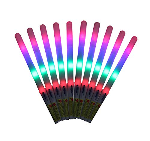 8 Function LED Cotton Candy Glo Cones-Pack Of 10