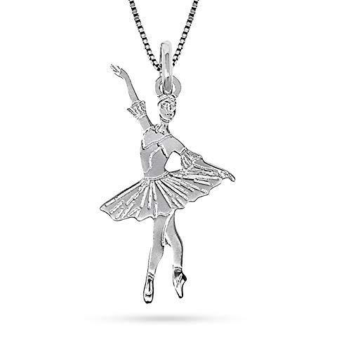 inSCINTILLE Collana Ballerina Danza Classica in Argento 925 con Ciondoli Vari Soggetti