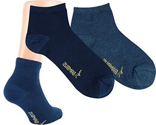 RS. Harmony | Kurzsocken | Bambus Super Weich Atmungsaktiv | 3 Paar | mittel-dunkel-jeans, marine-melange | 39-42