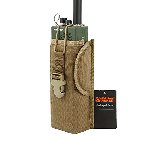 EXCELLENT ELITE SPANKER MOLLE Radio Pouch Tactical Nylon Universal Radio Holder Case Bag(Coyote Brown)