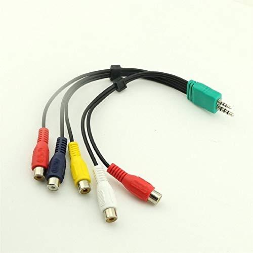 Cavo segnale CBF 3.5mm + 2.5mm 5rca Audio Video Component AV Cavo Adattatore Per Samsung LED TV LCD BN3901154W BN39-01154W 20 cm