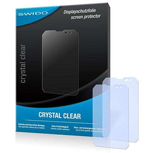 SWIDO Displayschutz für Caterpillar Cat B15Q [4 Stück] Kristall-Klar, Hoher Härtegrad, Schutz vor Öl, Staub und Kratzer/Schutzfolie, Displayschutzfolie, Panzerglas Folie