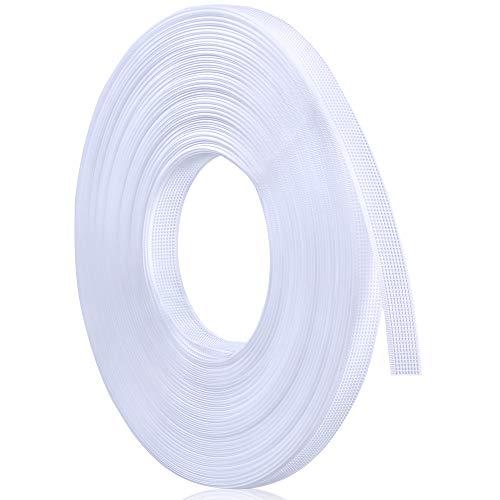 Sntieecr 1/2 Zoll x 25 Yard White Polyester Boning for Sewing, Through Low Density Boning for Wedding Dress, Stillkappen, Korsett, Brautkleider, Partykleider, Dessous, Bademode, Hüte und Handtaschen