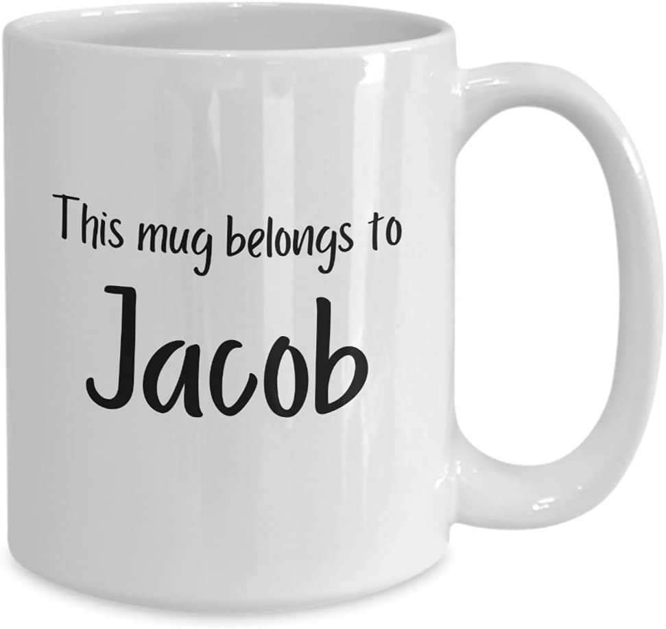 Great Same day shipping Gift for Jacob - 11 or 15 Max 77% OFF Novelty White oz Pers Mug
