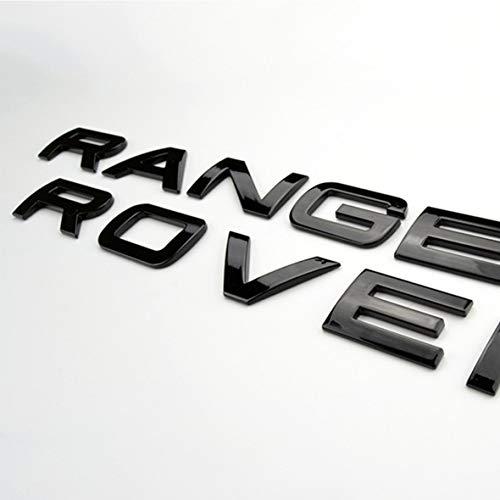 Chrome - Scritta Range Rover, lettere + stencil, colore: nero lucido