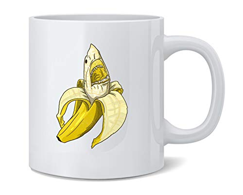 Poster Foundry Banana Shark Funny Art Ceramic Coffee Mug Coffee Mugs Tea Cup Fun Novelty Gift 12 oz