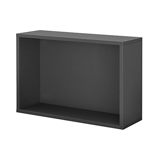 [en.casa] Wandregal in Grau 30x45x15cm perfekt kombinierbar Boxregal Staufach Regal